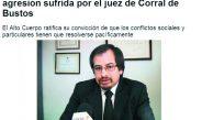 Brutal ataque sufrió el Juez Claudio Gomez