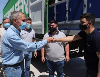 Corral de Bustos: visita del Gobernador Schiaretti
